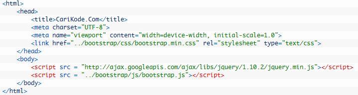 Membuat Footer Fixed dengan Bootstrap