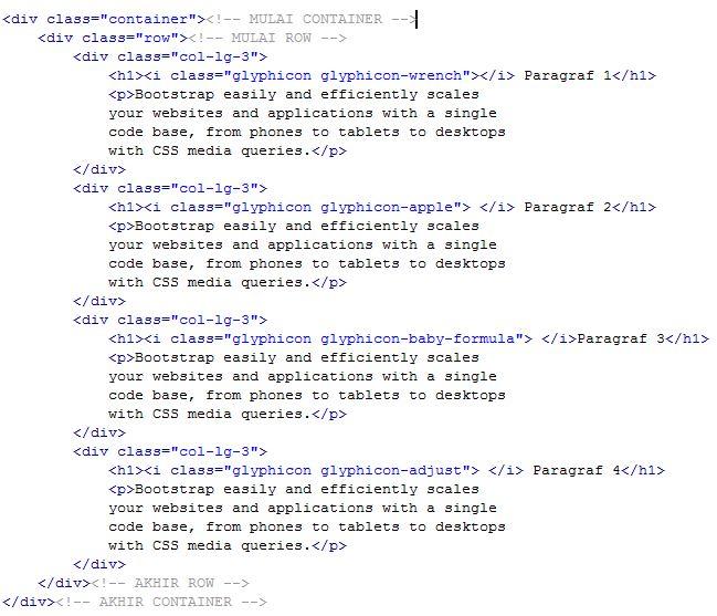 Penggunaan Glyphicon Pada Bootstrap