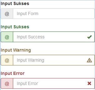 Penggunaan class pada tag input bootstrap