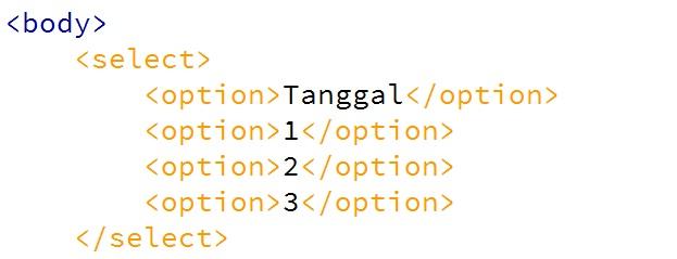 Menghilangkan Tanda Panah Tag Select Pada HTML dengan CSS3