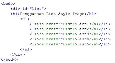Merubah Icon List Menjadi Gambar Pada CSS