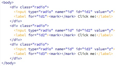Modifikasi Tampilan Radio Input Dengan CSS