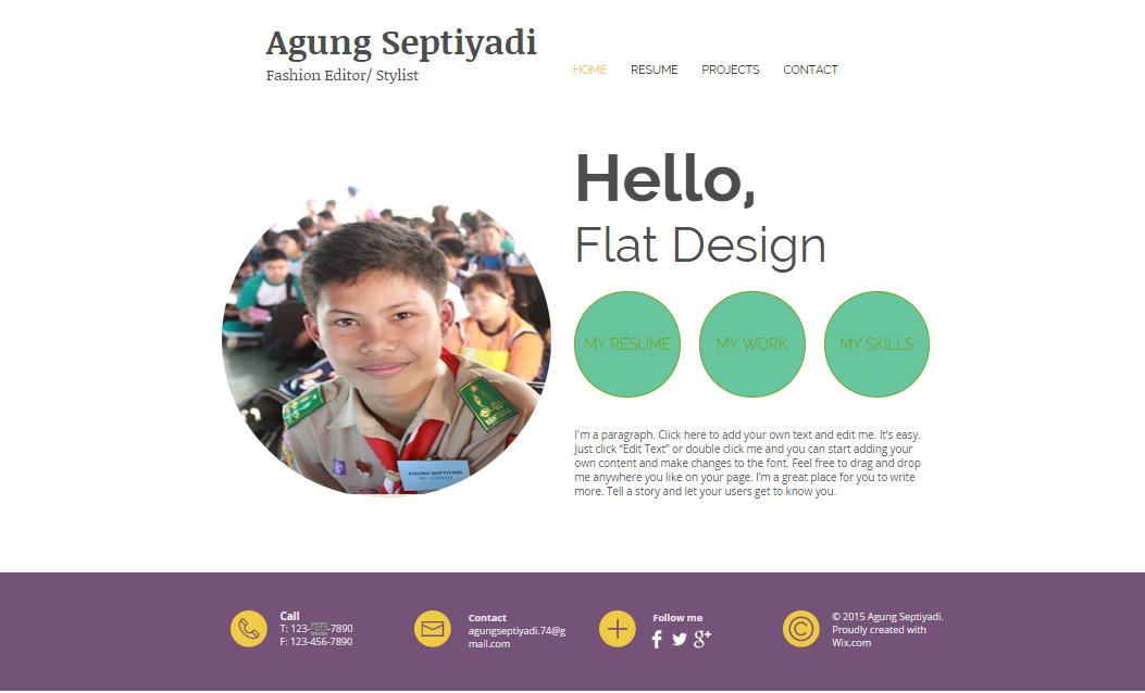 Desain Website dengan Flat Design