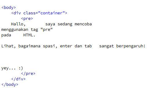 Mengenal Selector Pre Pada HTML