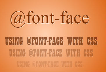using-@font-face