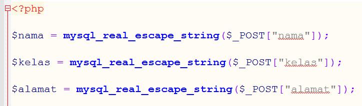 mysql_real_escape_string