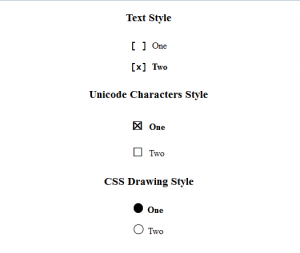 Membuat Style pada Input Type Radio