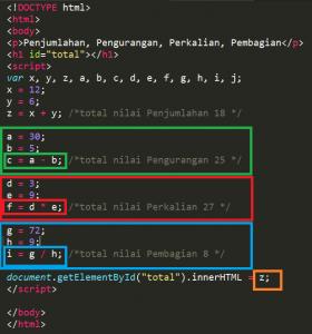 Menggunakan Penghitungan Pada Javasript