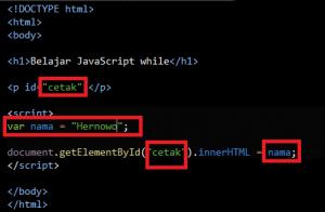 Cara Menggunakan Fungsi While dengan Javascript