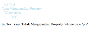 Mengenal Property white-space pada CSS3