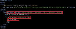 Cara Looping dengan Angularjs