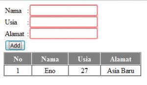 Cara input dan tampil data Dengan Angularjs