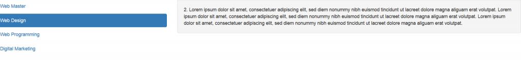 cara memberikan efek hover pada vertikal sidebar di bootstrap
