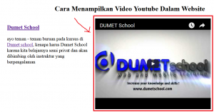 Cara Menampilkan Video Youtube Dalam Website