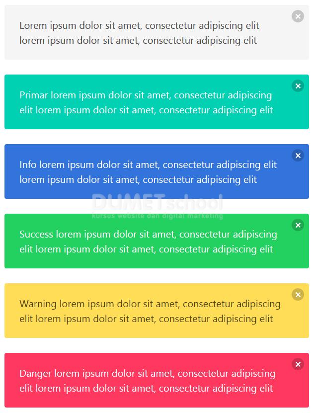 Cara Membuat Box Notifikasi Menggunakan Bulma CSS Framework