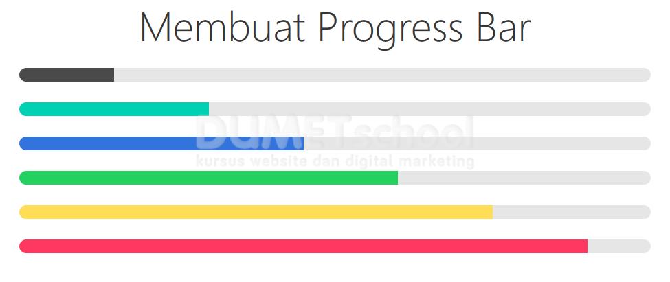Cara Membuat Progress Bar Menggunakan Bulma
