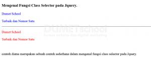 Mengenal Fungsi Class Selector pada Jquery