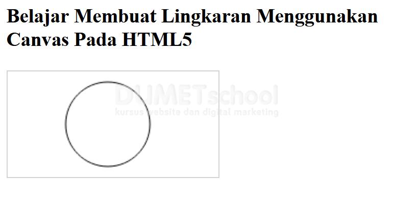 Cara Membuat Lingkaran Pada Canvas Menggunakan HTML5