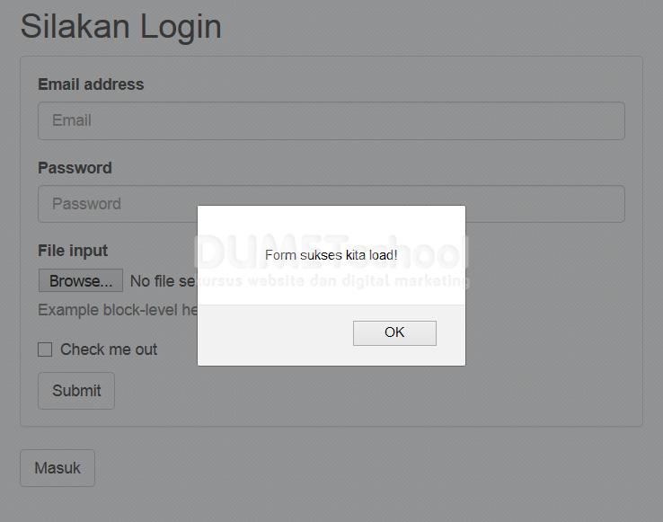Cara Menyisipkan Form Login Menggunakan AJAX jQuery