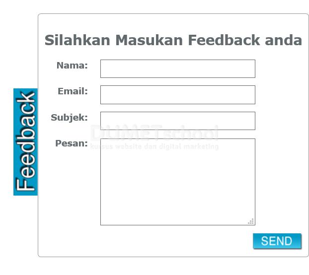 cara menambahkan animasi pada form feedback