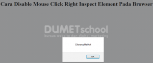 Cara Disable Mouse Click Right Inspect Element Pada Browser