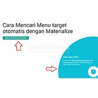 Cara Mencari Menu Target Otomatis dengan Materialize
