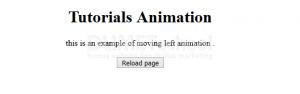 Cara Membuat Moving Left Animation