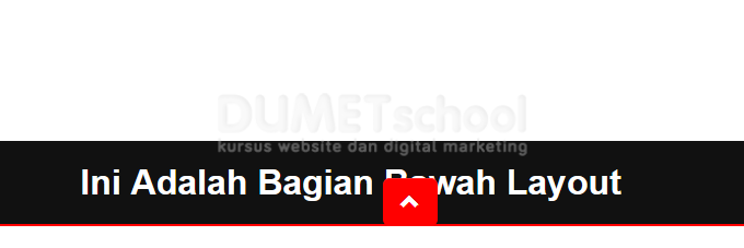 cara membuat tombol back to top dengan html dan javascript