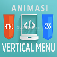 Cara Membuat Animasi Menu Vertikal dengan HTML CSS