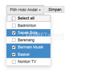 Cara Membuat Multiple Select dengan Bootstrap dan JQuery
