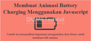Membuat Animasi Battery Charging Menggunakan Javascript