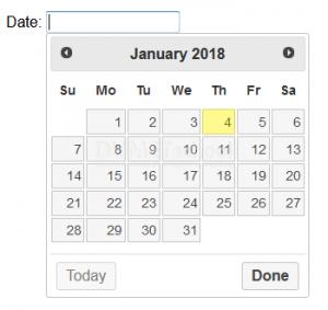 Mengenal Macam - Macam Datepicker Pada jQuery UI