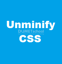 Cara Unminify File CSS