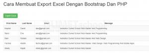 Cara Membuat Export Excel Dengan Bootstrap Dan PHP
