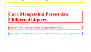 cara mengetahui parent dan children di jquery