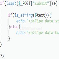 Membuat Fungsi Pengecekan Tipe Data String Di Dalam PHP