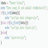 Mengenal Perbedaan Antara Tipe Data Integer Dengan Float