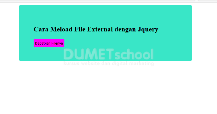 Cara meload file external dengan jquery method load - Jquery refresh div on click ...