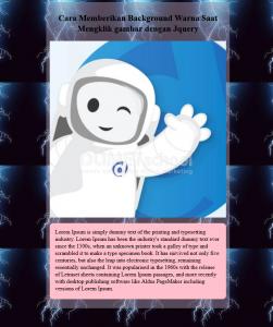 cara memberikan background warna saat mengklik gambar dengan Jquery