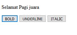 membuat efek bold italic dan underline pada ms.word dengan javascript1