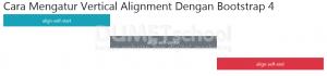 Cara Mengatur Vertical Alignment Dengan Bootstrap 4