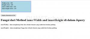 Fungsi dari Method innerWidth and innerHeight di dalam Jquery