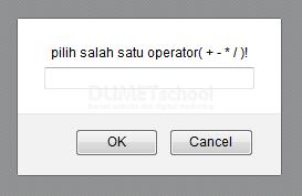 Melakukan Operator Aritmatika Dengan Prompt Javascript
