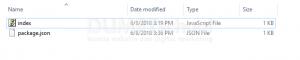 menjelankan file javascript pada server dengan npm 1