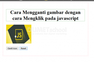 cara mengganti gambar dengan cara mengklik pada javascript