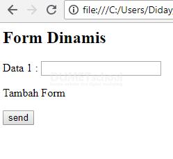 Membuat Infinity Form Sederhana Dengan Javascript 1
