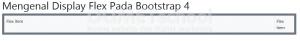 Mengenal Display Flex Pada Bootstrap 4 Part5