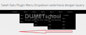 salah satu plugin menu dropdown sederhana dengan Jquery