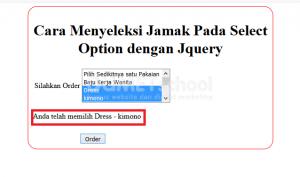 cara menyeleksi jamak pada select option dengan jquery part 2
