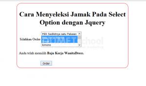cara menyeleksi jamak pada select option dengan jquery